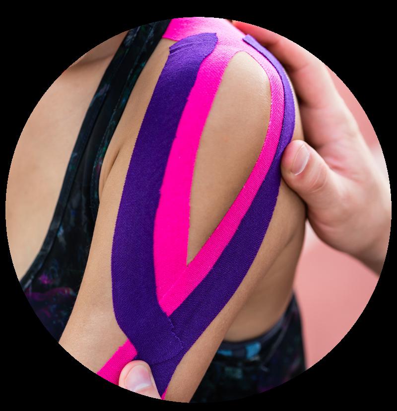 Zentrum Körperschwung Tapen